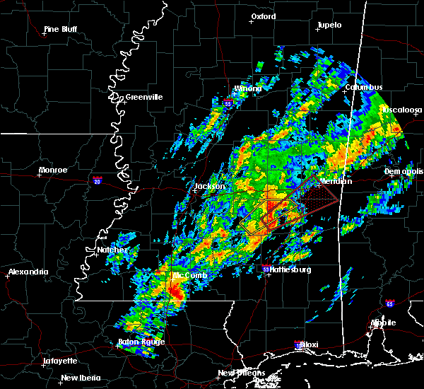 Radar Image for Severe Thunderstorms near Bay Springs, MS at 2/5/2020 10:59 PM CST