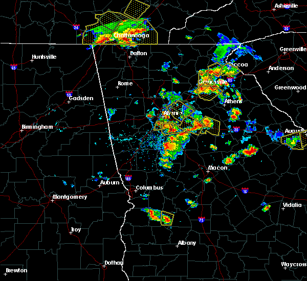 Radar Image for Severe Thunderstorms near Stone Mountain, GA at 6/24/2015 4:42 PM EDT