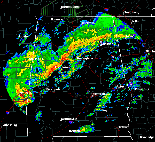 Radar Image for Severe Thunderstorms near Bellamy, AL at 2/5/2020 11:47 PM CST
