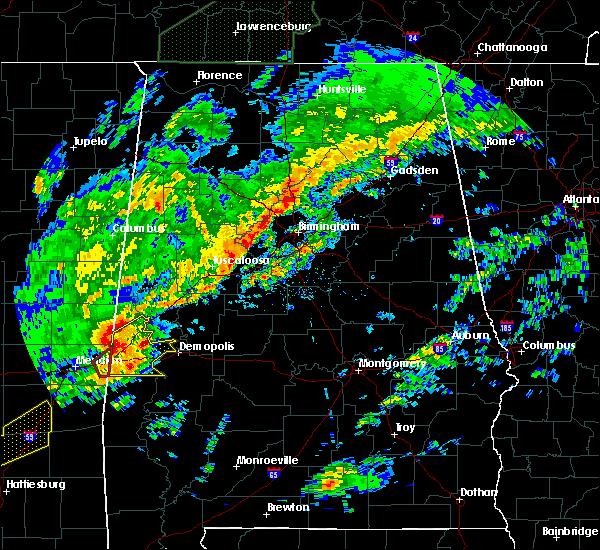 Radar Image for Severe Thunderstorms near Bellamy, AL at 2/6/2020 12:09 AM CST