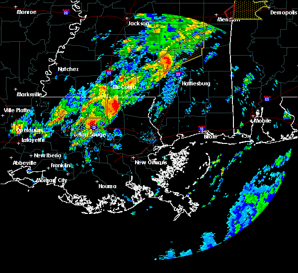 Radar Image for Severe Thunderstorms near Independence, LA at 2/6/2020 12:12 AM CST