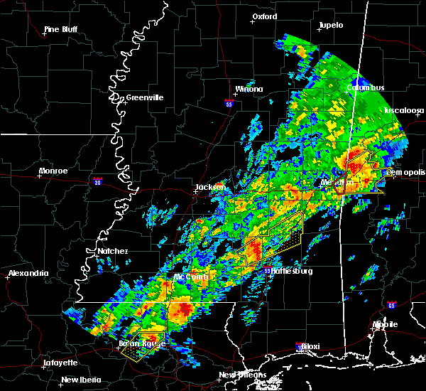 Radar Image for Severe Thunderstorms near Soso, MS at 2/6/2020 12:13 AM CST