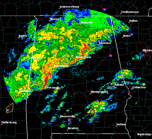 Radar Image for Severe Thunderstorms near Centreville, AL at 2/6/2020 12:50 AM CST