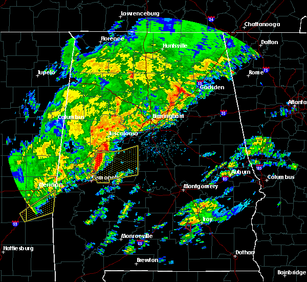 Radar Image for Severe Thunderstorms near Centreville, AL at 2/6/2020 1:02 AM CST