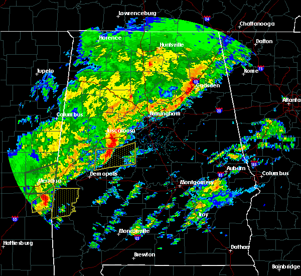 Radar Image for Severe Thunderstorms near Centreville, AL at 2/6/2020 1:19 AM CST