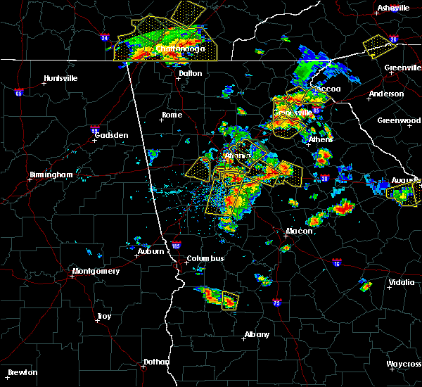 Radar Image for Severe Thunderstorms near Haralson, GA at 6/24/2015 4:46 PM EDT