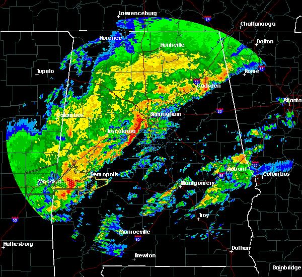 Radar Image for Severe Thunderstorms near Bellamy, AL at 2/6/2020 1:50 AM CST