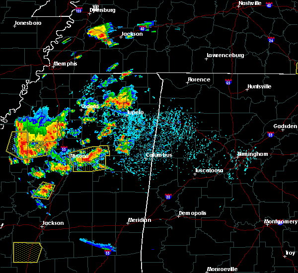 Radar Image for Severe Thunderstorms near Winona, MS at 6/24/2015 3:45 PM CDT