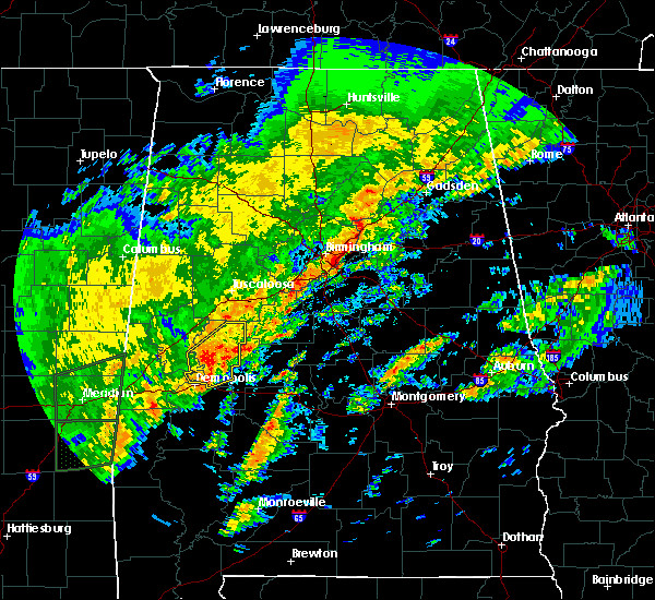 Radar Image for Severe Thunderstorms near Pell City, AL at 2/6/2020 2:26 AM CST