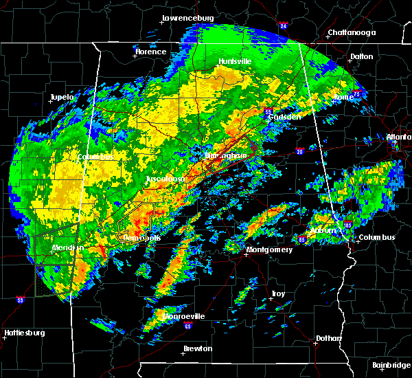 Radar Image for Severe Thunderstorms near Pell City, AL at 2/6/2020 2:35 AM CST