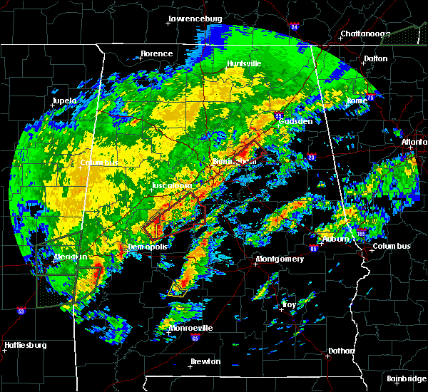 Radar Image for Severe Thunderstorms near Centreville, AL at 2/6/2020 2:49 AM CST