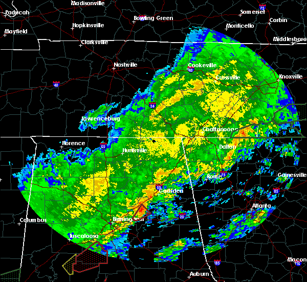 Radar Image for Severe Thunderstorms near Lookout Mountain, AL at 2/6/2020 2:56 AM CST