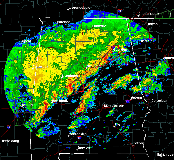 Radar Image for Severe Thunderstorms near Centreville, AL at 2/6/2020 3:03 AM CST