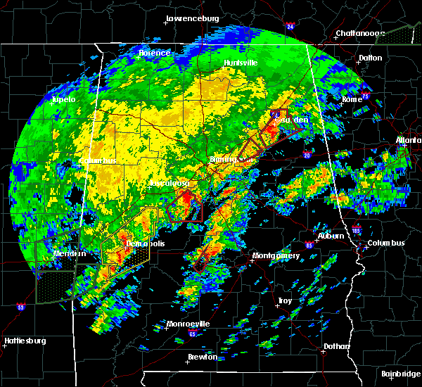 Radar Image for Severe Thunderstorms near Vincent, AL at 2/6/2020 3:15 AM CST