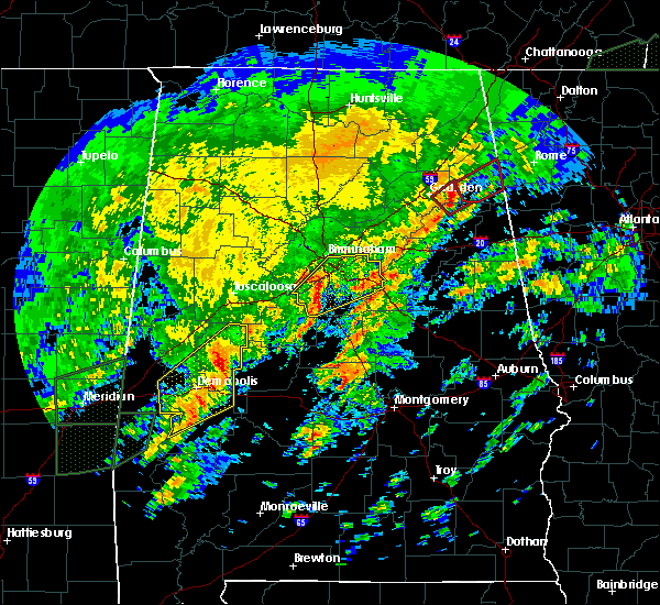 Radar Image for Severe Thunderstorms near Vincent, AL at 2/6/2020 3:27 AM CST