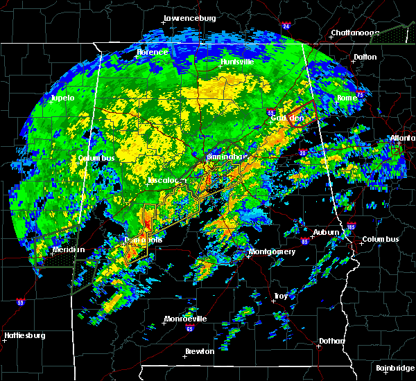 Radar Image for Severe Thunderstorms near Vincent, AL at 2/6/2020 3:40 AM CST
