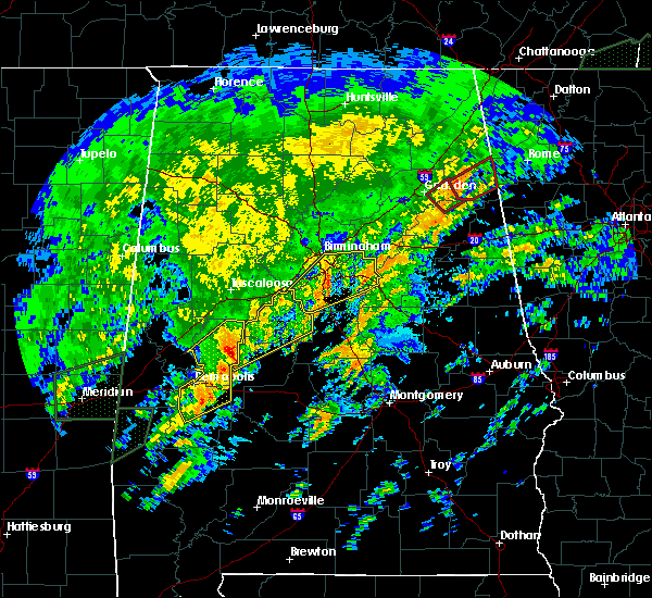 Radar Image for Severe Thunderstorms near Demopolis, AL at 2/6/2020 3:39 AM CST