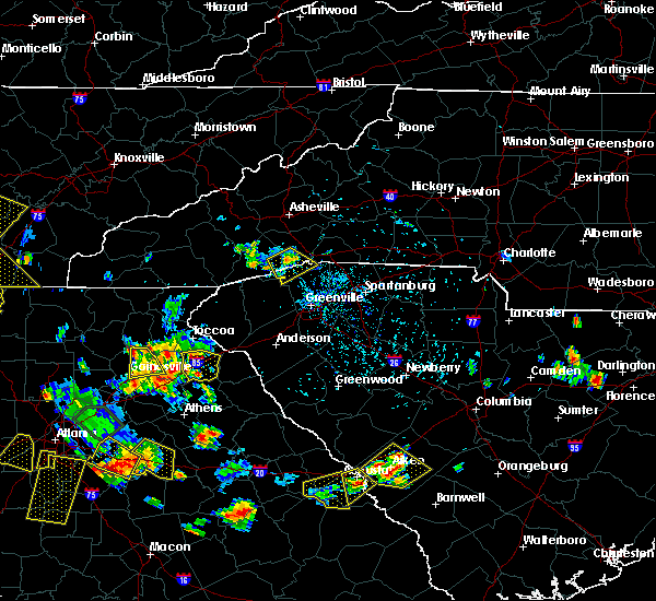 Radar Image for Severe Thunderstorms near Canon, GA at 6/24/2015 4:55 PM EDT