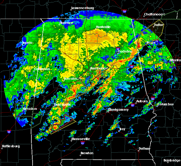 Radar Image for Severe Thunderstorms near Vincent, AL at 2/6/2020 3:54 AM CST
