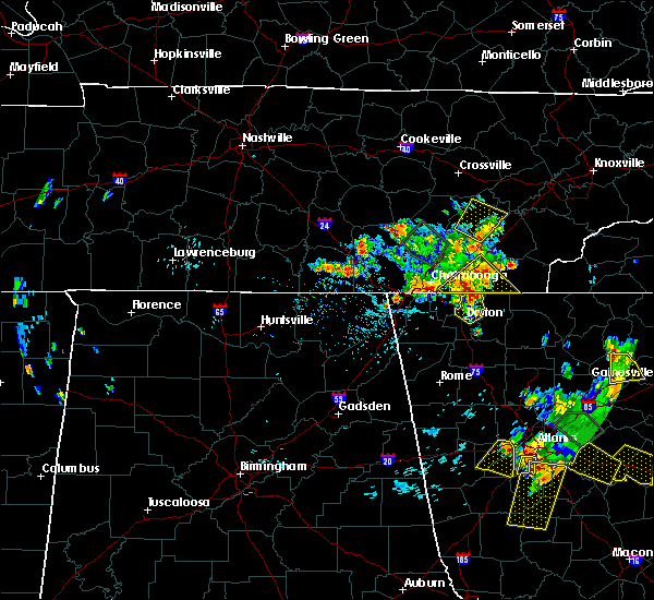 Radar Image for Severe Thunderstorms near Tunnel Hill, GA at 6/24/2015 4:55 PM EDT