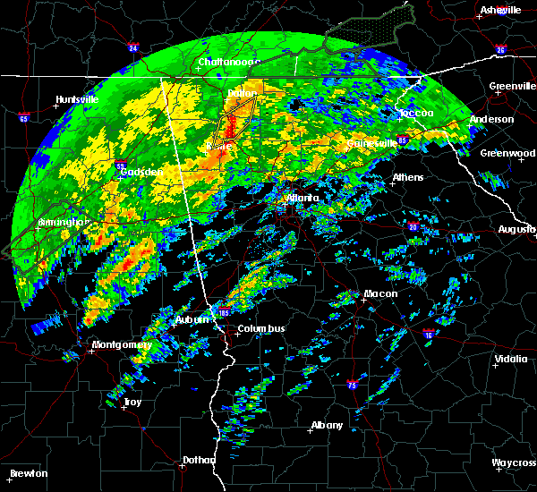 Radar Image for Severe Thunderstorms near Calhoun, GA at 2/6/2020 5:29 AM EST