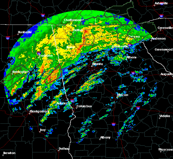 Radar Image for Severe Thunderstorms near Ellijay, GA at 2/6/2020 5:55 AM EST
