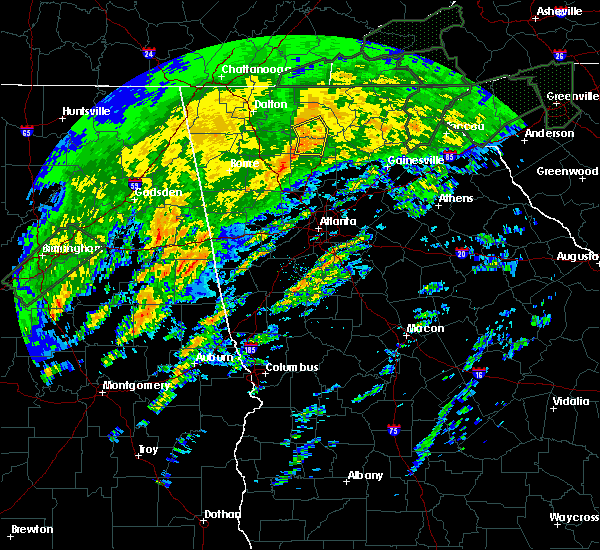 Radar Image for Severe Thunderstorms near Ellijay, GA at 2/6/2020 6:08 AM EST