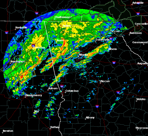 Radar Image for Severe Thunderstorms near Kennesaw, GA at 2/6/2020 6:50 AM EST