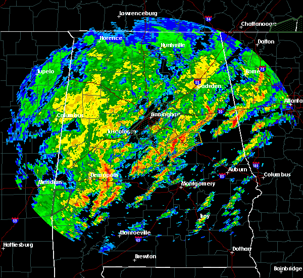 Radar Image for Severe Thunderstorms near Mount Olive, AL at 2/6/2020 5:51 AM CST