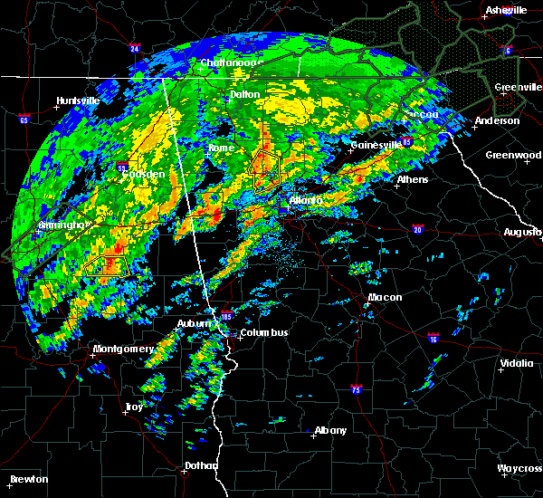Radar Image for Severe Thunderstorms near Kennesaw, GA at 2/6/2020 7:06 AM EST