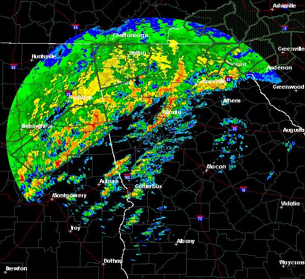 Radar Image for Severe Thunderstorms near Atlanta, GA at 2/6/2020 7:45 AM EST