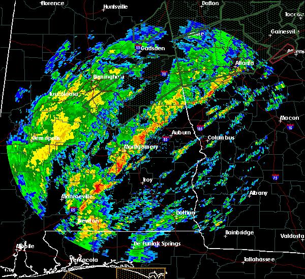 Radar Image for Severe Thunderstorms near Georgiana, AL at 2/6/2020 9:17 AM CST