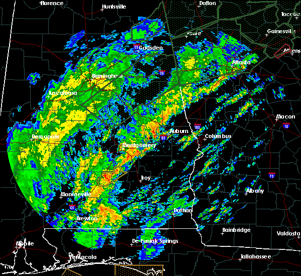 Radar Image for Severe Thunderstorms near Montgomery, AL at 2/6/2020 9:30 AM CST