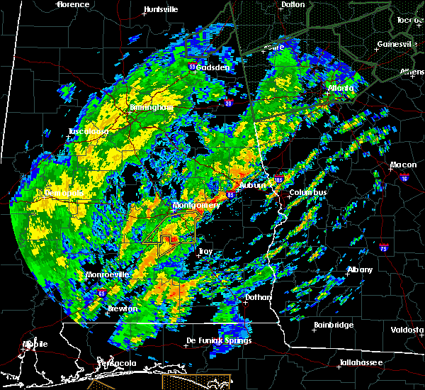 Radar Image for Severe Thunderstorms near Montgomery, AL at 2/6/2020 9:44 AM CST