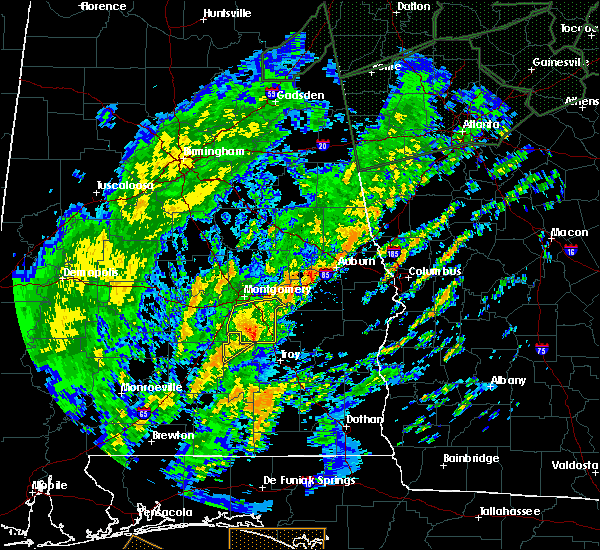 Radar Image for Severe Thunderstorms near Montgomery, AL at 2/6/2020 9:54 AM CST