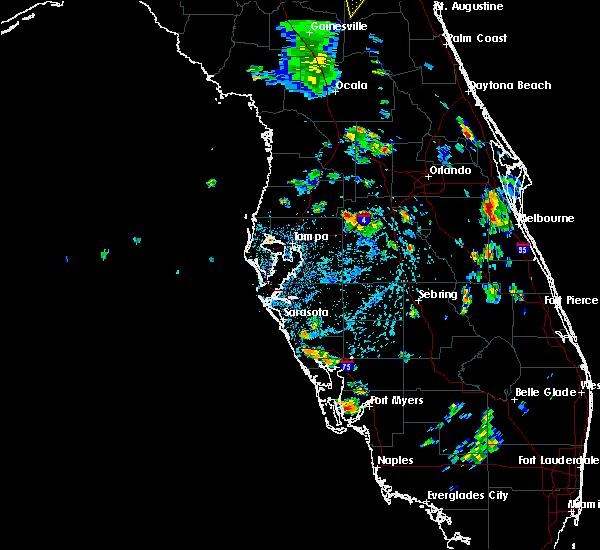 Radar Image for Severe Thunderstorms near Lakeland, FL at 6/24/2015 5:01 PM EDT