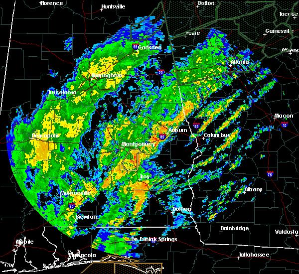 Radar Image for Severe Thunderstorms near Shorter, AL at 2/6/2020 10:09 AM CST