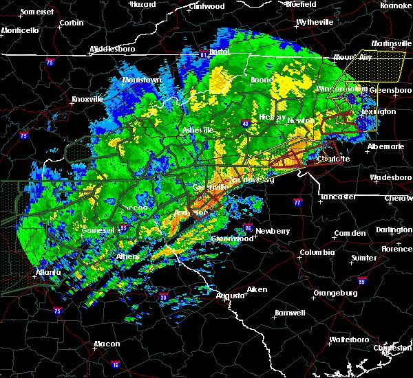 Radar Image for Severe Thunderstorms near Simpsonville, SC at 2/6/2020 11:18 AM EST