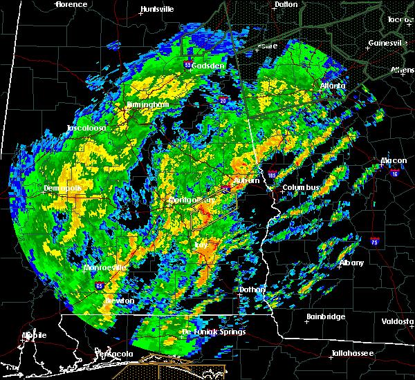 Radar Image for Severe Thunderstorms near Shorter, AL at 2/6/2020 10:21 AM CST