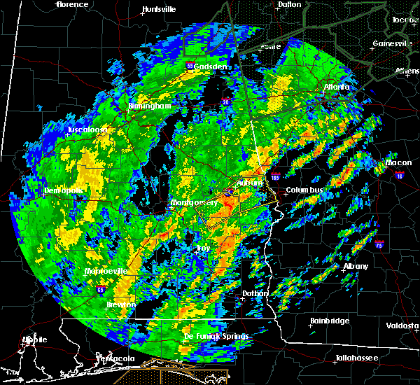 Radar Image for Severe Thunderstorms near Ladonia, AL at 2/6/2020 10:30 AM CST