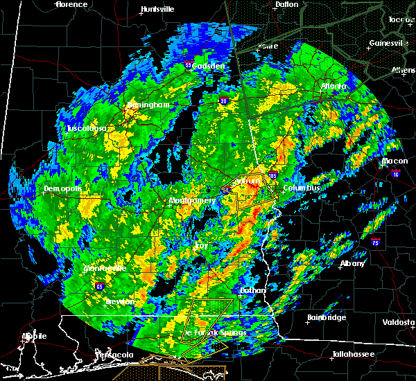Radar Image for Severe Thunderstorms near Ladonia, AL at 2/6/2020 10:53 AM CST