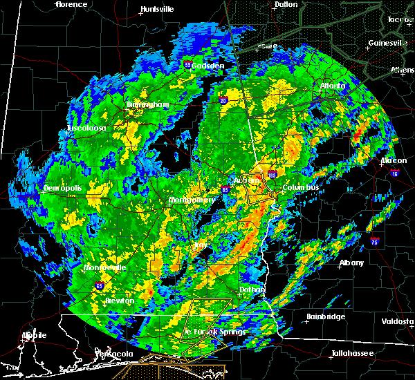Radar Image for Severe Thunderstorms near Columbus, GA at 2/6/2020 11:59 AM EST