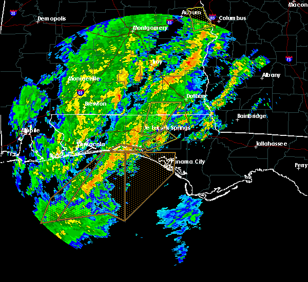 Radar Image for Severe Thunderstorms near Slocomb, AL at 2/6/2020 11:01 AM CST
