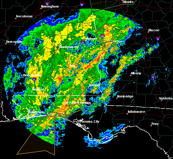 Radar Image for Severe Thunderstorms near Cowarts, AL at 2/6/2020 11:19 AM CST