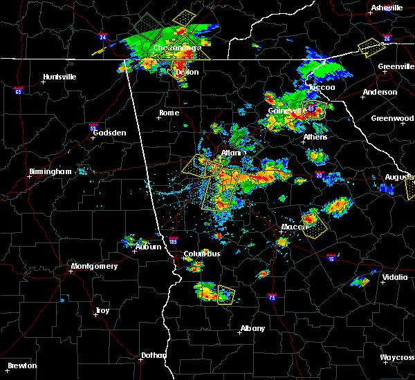 Radar Image for Severe Thunderstorms near Fairburn, GA at 6/24/2015 5:08 PM EDT