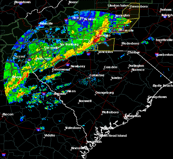 Radar Image for Severe Thunderstorms near JAARS, NC at 2/6/2020 12:33 PM EST