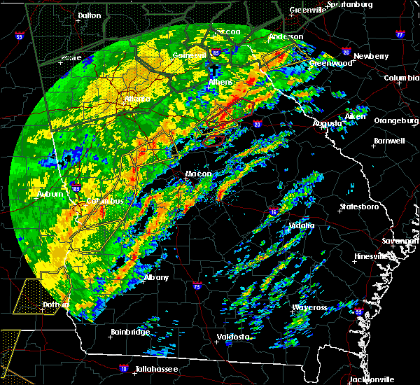 Radar Image for Severe Thunderstorms near White Plains, GA at 2/6/2020 12:58 PM EST