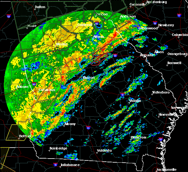 Radar Image for Severe Thunderstorms near Woodville, GA at 2/6/2020 1:05 PM EST