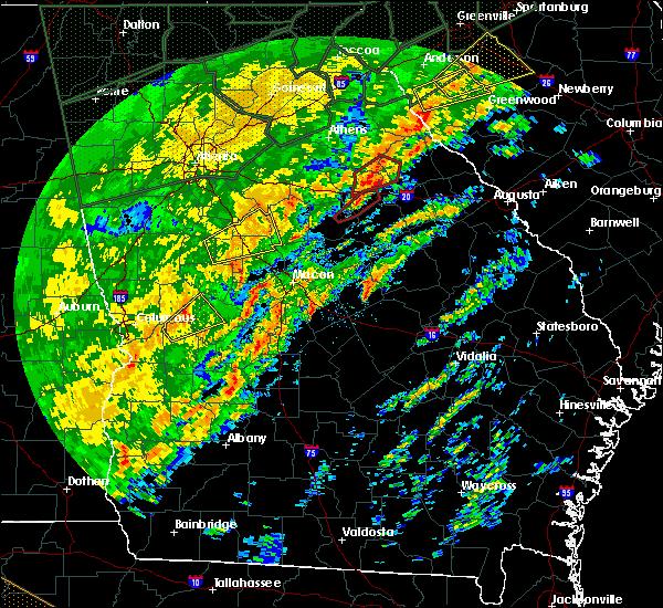 Radar Image for Severe Thunderstorms near Oconee, GA at 2/6/2020 1:13 PM EST