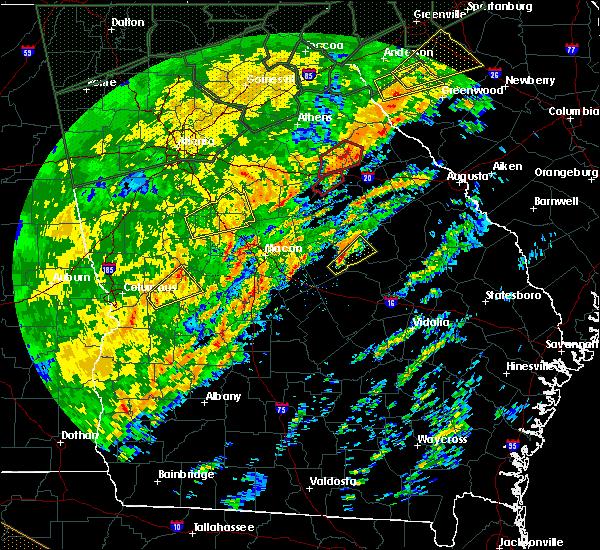 Radar Image for Severe Thunderstorms near Oconee, GA at 2/6/2020 1:24 PM EST
